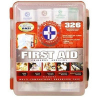 First Aid Center First Aid Kit With Hard Case- 326 pcs- First Aid Complete Care Kit - Exceeds OSHA & ANSI Guidelines - Ideal for the Workplace - Disaster Preparedness (Color Red)