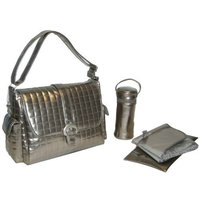 Kalencom Monique Buckle Bag, Silver