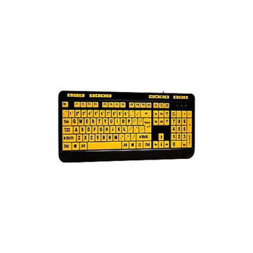 Adesso Inc. Adesso Luminous AKB-132UY - Keyboard - USB - black, yellow