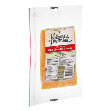 Nature's Promise Thin Sliced Mild Cheddar Cheese