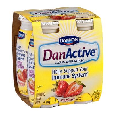 Dannan DanActive Strawberry Flavored Probiotic Probiotic Dairy Drink - 4 CT