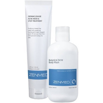 ZENMED Body Acne Combo - Botanical Body Wash, Acne Mask and Spot Treatment