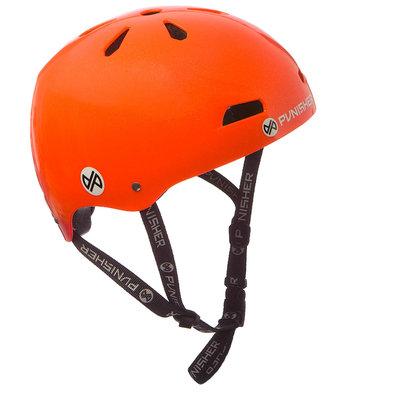 Punisher Skateboards 13-vent Bright Neon Orange Youth BMX/ Skateboard Helmet