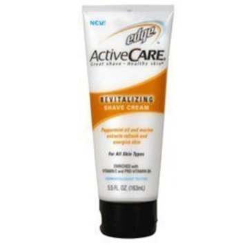 S.C.JOHNSON WAX. Edge Active Care Revitalizing Shaving Cream For All Skin Types - 5.5 Oz