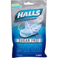 HALLS Sugar Free Mountain Menthol Flavor Menthol Cough Drops