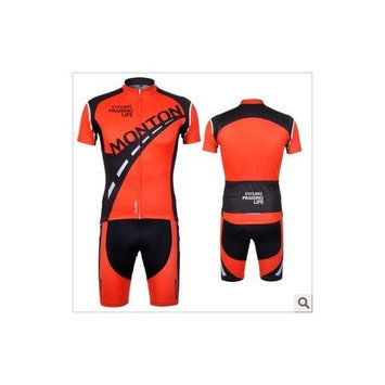 MONTON 2012 cycling jersey Set short-sleeved jersey tenacious life/Perspiration breathable men's cycling jerseys jersey suit (S)