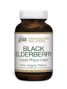 Gaia Herbs Professional - Black Elderberry 1150 mg. - 60 Liquid-Filled Capsules