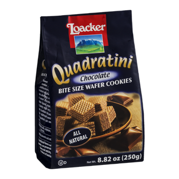 Loacker Quadratini Bite Size Wafer Cookies Chocolate