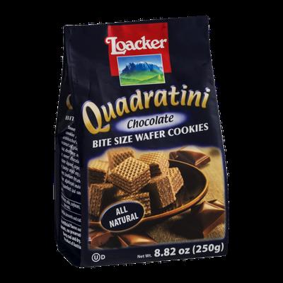 Loacker Quadratini Bite Size Wafer Cookies Chocolate