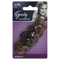 Goody Products Inc. Classics Marbled Barrette, Autoclasp, 1 CT