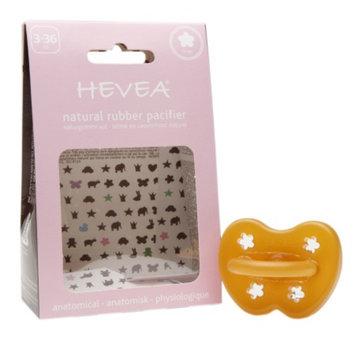 Hevea Natural Rubber Pacifier, 3-36 Months, Flower, 1 ea