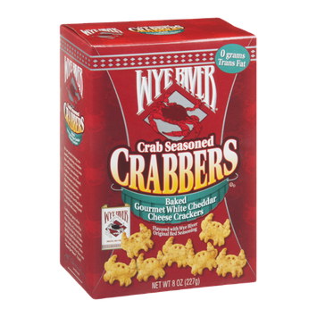 Wye River Crabbers White Cheddar Cheese Crackers Crab Seasoned