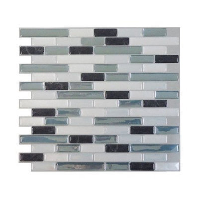 Smart Tiles 9.13 in. x 10.25 in. Muretto Brina Mosaic Decorative Wall Tile (6-Pack) SM1041-6