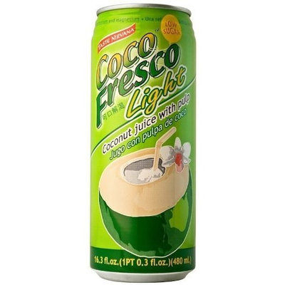 Taste Nirvana Coco Fresco Light with Pulp, 16.2-Ounce (Pack of 12)