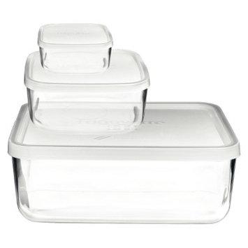 Bormioli Rocco Frigoverre 3 Piece Compact Glass Food Storage