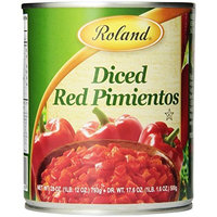 Roland Diced Red Pimientos, 28-Ounce Cans (Pack of 6)