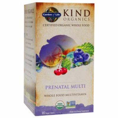 Garden of Life KIND Organics Prenatal Multi, Vegan Tablets, 180 ea