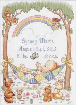 Bucilla Company Bucilla Our Little Blessing Birth Record Counted Cross Stitch Kit 10