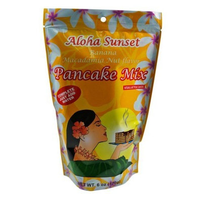 Aloha Sunset Foods Banana Macadamia Nut Pancake Mix From Hawaii