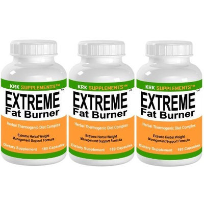 3 BOTTLES Extreme Fat Burner 540 total Capsules Weight Loss Diet Pills KRK SUPPLEMENTS