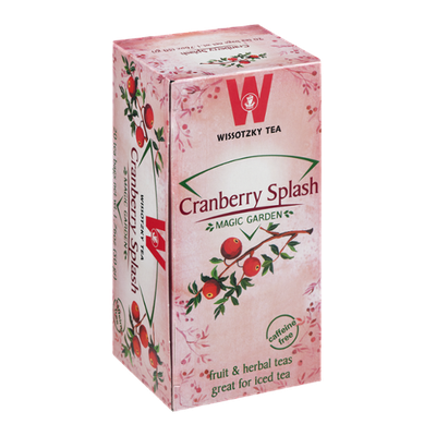 Wissotzky Tea Bags Magic Garden Cranberry Splash - 20 CT