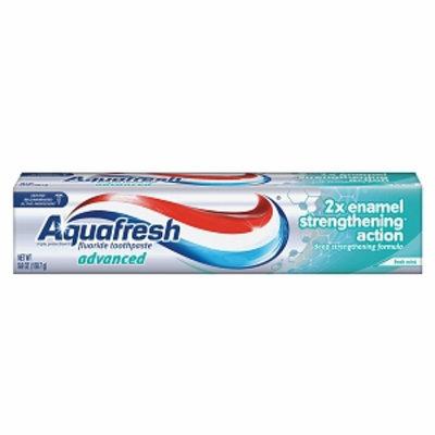Aquafresh Advanced 2X Enamel Strengthening Action Fluoride Toothpaste