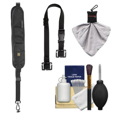BlackRapid RS-5 Sling Camera Strap with Extra Storage Pockets with BlackRapid BRAD MOD + Cleaning & Accessory Kit