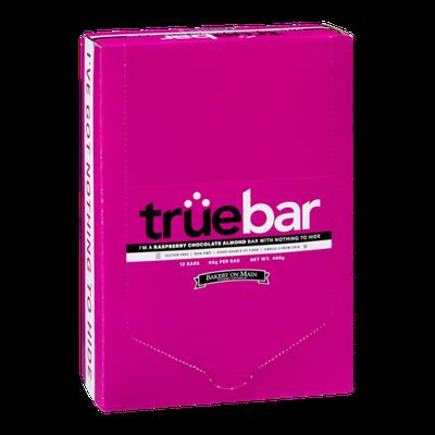 Truebar Raspberry Chocolate Almond Bar - 12 CT