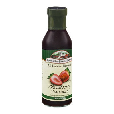 Maple Grove Farms Dressing, Strawberry Balsamic, 12 FL OZ (Pack of 6)