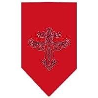 Mirage Pet Products 6779 SMRD Warriors Cross Rhinestone Bandana Red Small