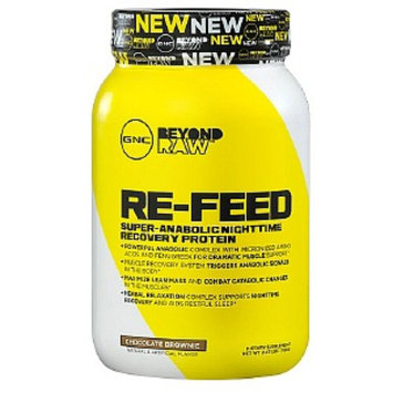 Raw Hardcore GNC Beyond RAW RE-FEED Nighttime Protein, Double Chocolate, 2.43 lbs