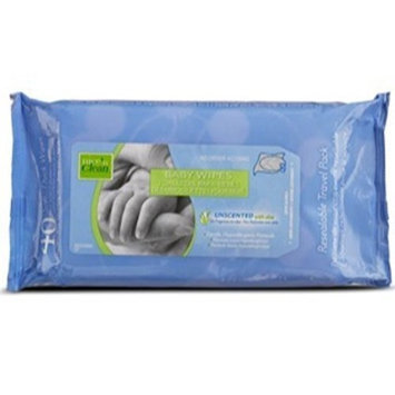 PDI Nice 'N Clean Baby Wipes Soft-packs with Aloe, Unscented, Case of 6/80s (480 ct)