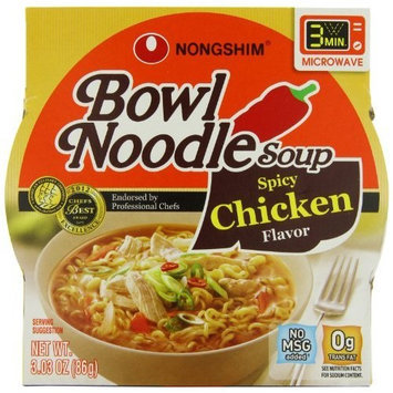 Nong Shim Nongshim Spicy Chicken Noodle Bowl, 3.03 Ounce (Pack of 12)
