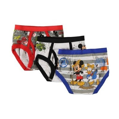Disney Mickey Mouse Clubhouse Mickey 3 Pack Toddler Boys Briefs for Little Boys []