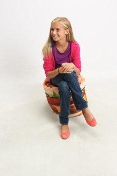 Cowrind Studios, Inc. Hamburger Junior Blow-Up Inflatable Chair