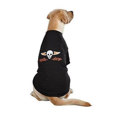 Casual Canine Ruff n' Tuff Dog Tee Apparel in Black
