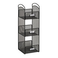 Safco Products Company Safco Onyx 3290BL Steel Mesh Black Tower Break Room Organizer