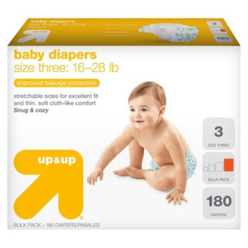 up & up Baby Diapers Size 3 180 ct