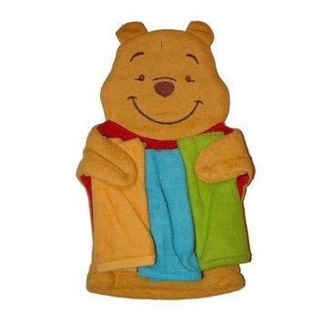 Disney Winnie the Pooh Baby Washmitt Puppet & 3 Washcloth Set