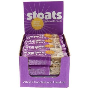 Stoats White Chocolate and Hazelnut Oat Bar, 2.3-Ounce (Pack of 12)
