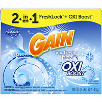 Gain Icy Fresh Fizz Scent Laundry Detergent with Oxi Boost