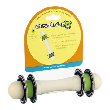 Chewzie Dog Toy Barbell M