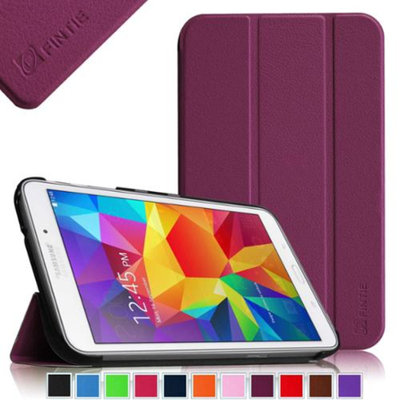 Fintie Smart Shell Case Ultra Slim Lightweight Stand Cover for Samsung Galaxy Tab 4 8.0 inch Tablet, Purple