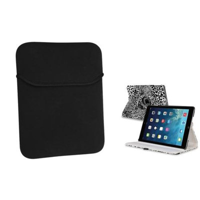 Insten INSTEN White/Black Leopard 360 Leather Case Cover+Pouch For Apple iPad Air 5 5th Gen