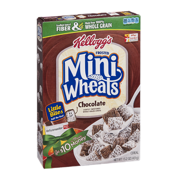 Kellogg's Frosted Mini Wheats Chocolate Little Bites Cereal