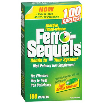 Ferro-Sequels High Potency Iron Supplement Tablets