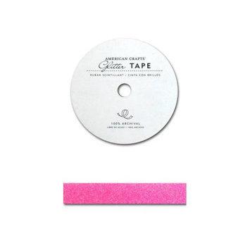 American Crafts AC-GT-96012 Glitter Paper Tape 3 Yards-Spool-Begonia .625 in.