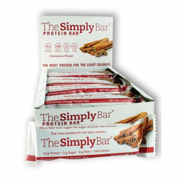 The Simply Bar Protein Bar Cinnamon and Pecan Case of 15 1.4 oz