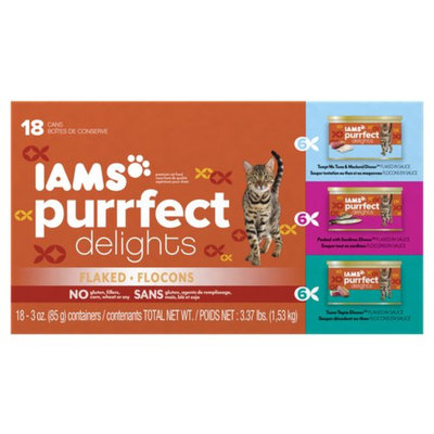 Iams™ Purrfect Delights™ Tempt Me Tuna & Mackerel, Packed with Sardines Cat Food