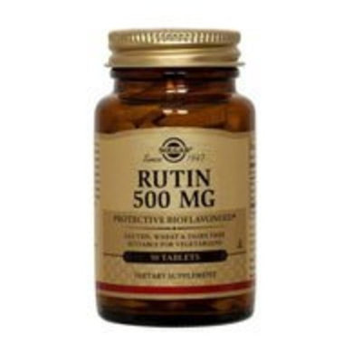 Solgar Rutin 500 mg Tablets, 250 Tabs 500 mg (Pack of 2)
